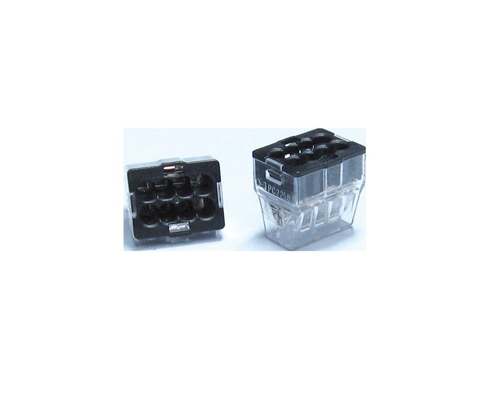 Bornes de connexion automatique - 8 trous noir - P07138