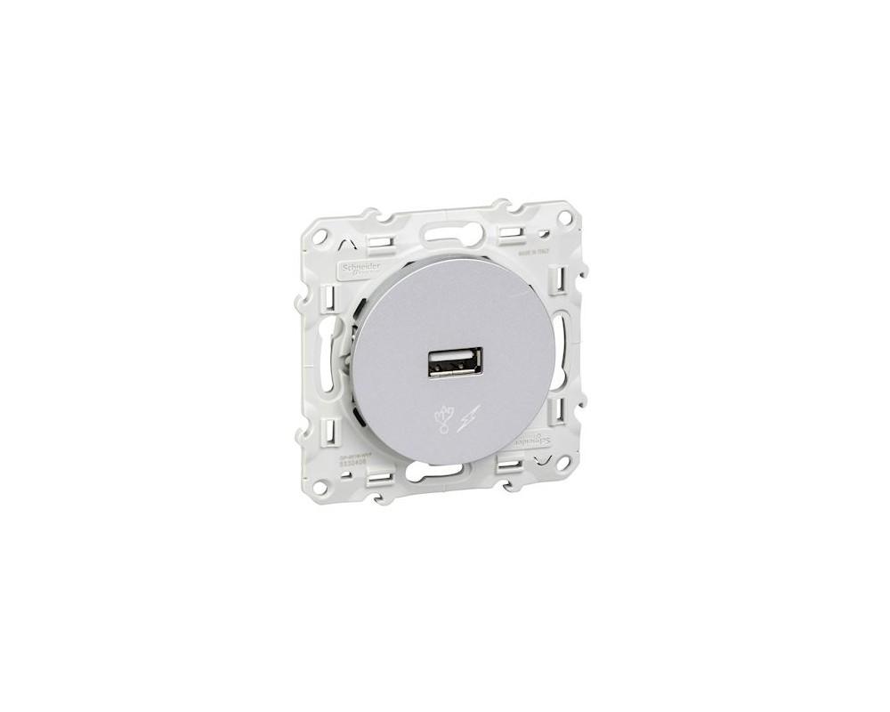 ODACE - Prise alimentation USB Alu - S530408