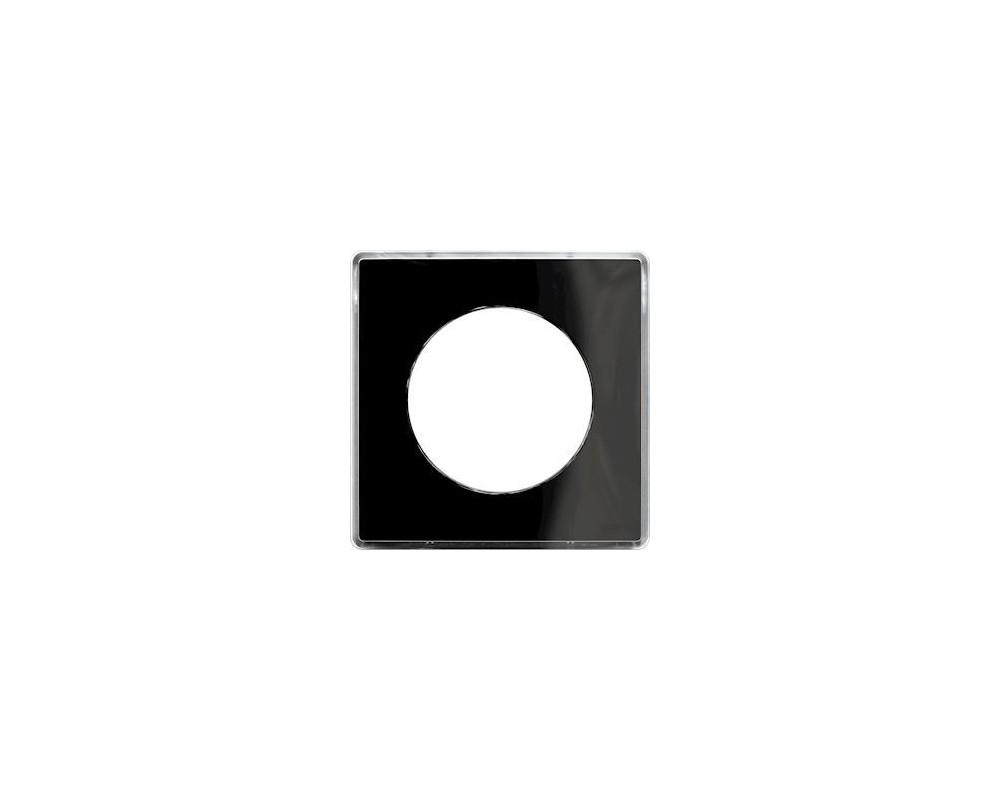 Odace You Noir, plaque de finition support Blanc 1 poste - S520902Z