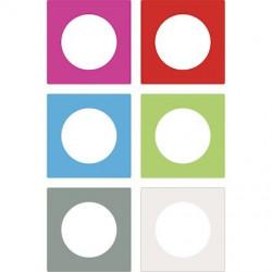 Odace You Transparent blanc, lot de 3 feuillets 6 couleurs, 1 poste - S5209421