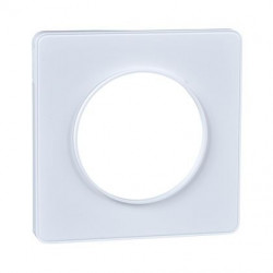 Odace Touch - plaque de finition 1 poste - Blanc RAL9003 - S520802