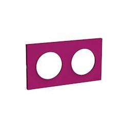 Odace Styl plaque Violine 2 postes horizontaux ou verticaux entraxe 71mm - S520704D