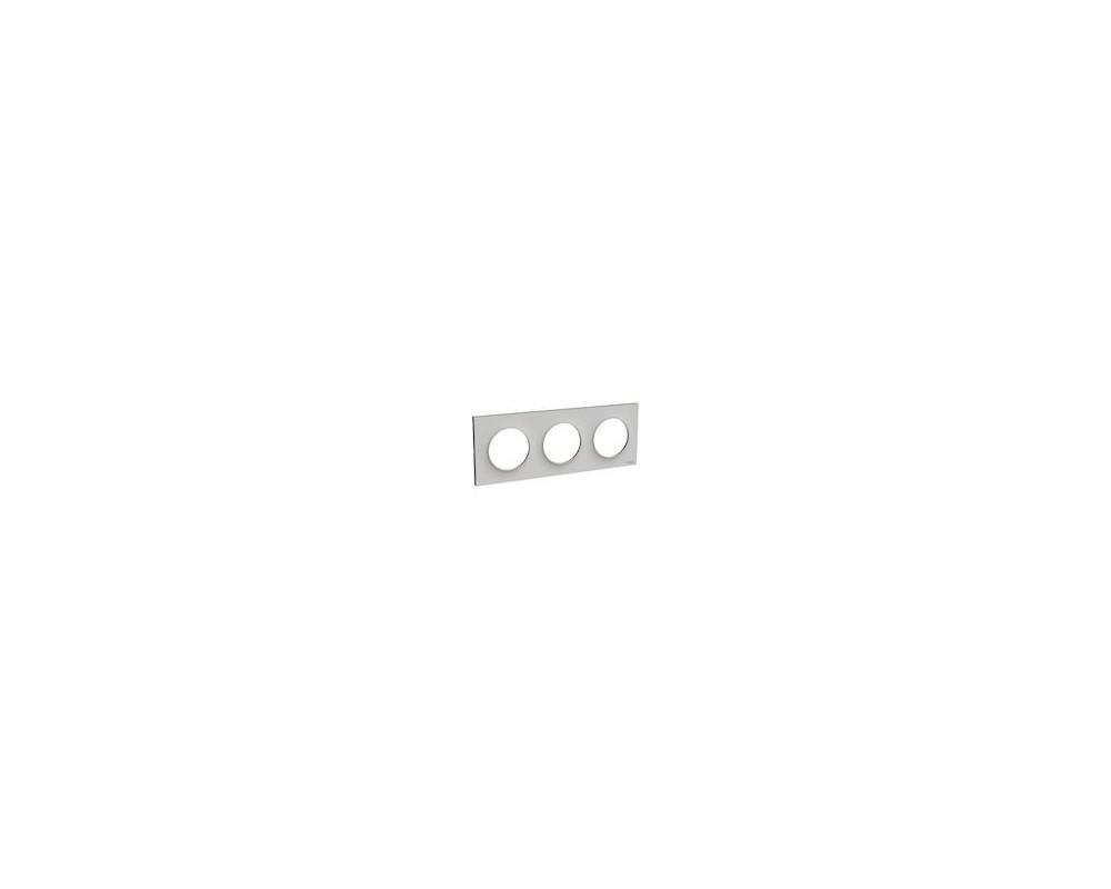 Odace Styl plaque Sable 3 postes horizontaux ou verticaux entraxe 71mm - S520706B1
