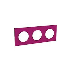 Odace Styl plaque Violine 3 postes horizontaux ou verticaux entraxe 71mm - S520706D