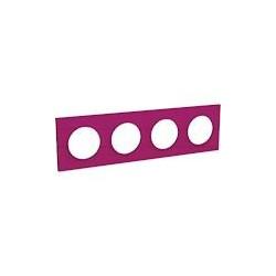 Odace Styl plaque Violine 4 postes horizontaux ou verticaux entraxe 71mm - S520708D