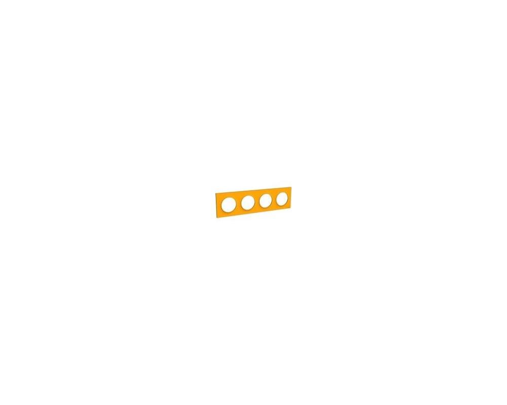 Odace Styl plaque Ambre 4 postes horizontaux ou verticaux entraxe 71mm - S520708G
