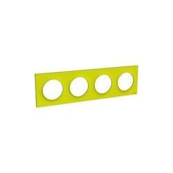 Odace Styl plaque Vert Chartreuse 4 postes horiz. ou verticaux entraxe 71mm - S520708H