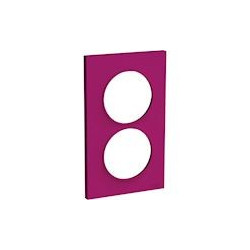 Odace Styl - plaque 2 postes - violine - entraxe 57mm vertical - S520714D