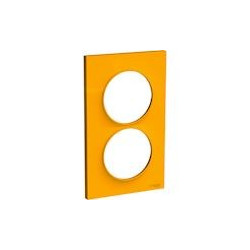 Odace Styl - plaque 2 postes - ambre - entraxe 57mm vertical - S520714G