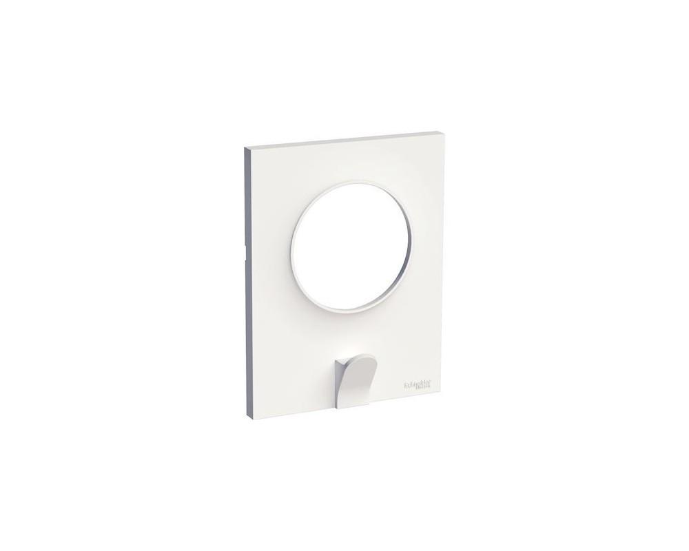Odace Styl Pratic, plaque Blanc avec crochet multi-usage 1 poste - S520722