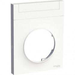 Odace Styl Pratic, plaque Blanc avec porte etiquette 1 poste - S520732