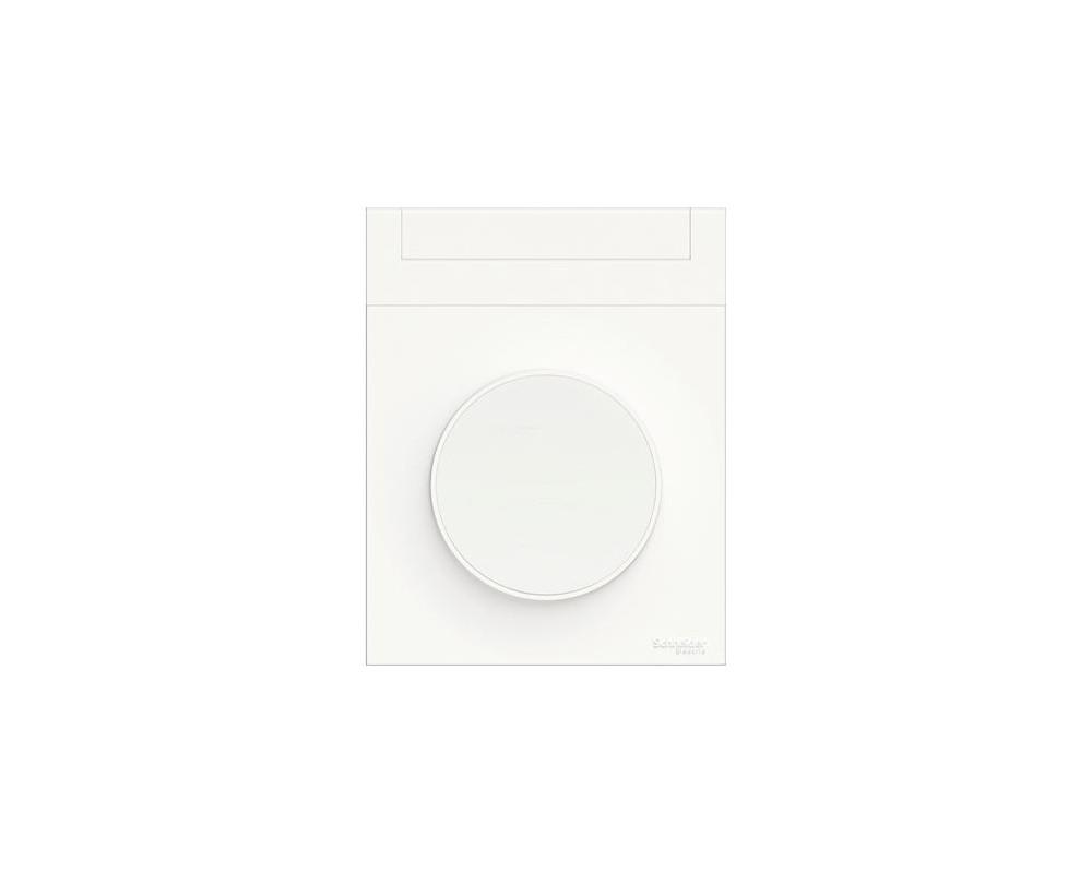 Odace Styl Pratic, plaque Blanc porte etiquette avec bloc lumineux 1 poste - S520739