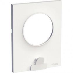 Odace Styl Pratic, plaque Blanc avec pince multi-usage 1 poste - S520742