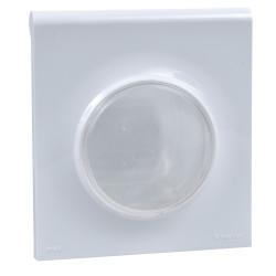 Odace Styl Pratic, plaque Blanc avec couvercle souple translucide 1 poste IP44 - S520772