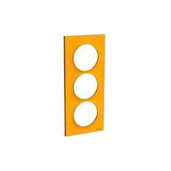 Odace Styl - plaque 3 postes - ambre - entraxe 57mm vertical - S520716G