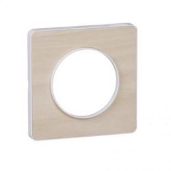 Odace Touch, plaque Bois nordique avec liseré Blanc 1 poste - S520802M