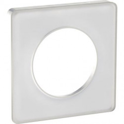 Odace Touch, plaque Translucide Blanc 1 poste - S520802R