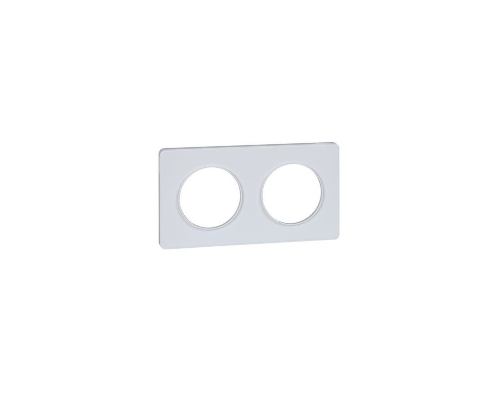 Odace Touch, plaque Blanc 2 postes horiz. ou vert. entraxe 71mm - S520804