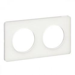 Odace Touch, plaque Translucide Blanc 2 postes horiz./vert. entraxe 71mm - S520804R