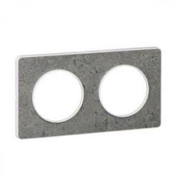 Odace Touch, plaque Pierre Galet 2 postes horiz./vert. entraxe 71mm - S520804U