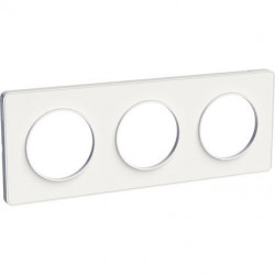 Odace Touch, plaque Blanc 3 postes horiz. ou vert. entraxe 71mm - S520806