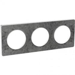 Odace Touch, plaque Pierre Galet 3 postes horiz./vert. entraxe 71mm - S520806U