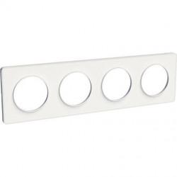 Odace Touch, plaque Blanc 4 postes horiz. ou vert. entraxe 71mm - S520808