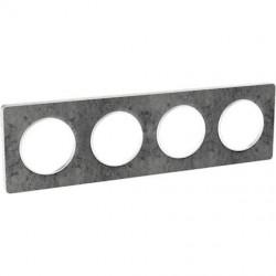 Odace Touch, plaque Pierre Galet 4 postes horiz./vert. entraxe 71mm - S520808U