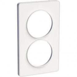 Odace Touch, plaque Blanc 2 postes verticaux 57mm - S520814