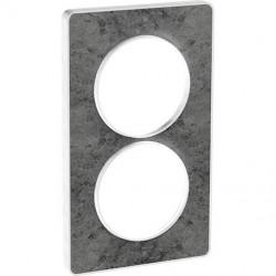 Odace Touch, plaque Pierre Galet 2 postes verticaux entraxe 57mm - S520814U