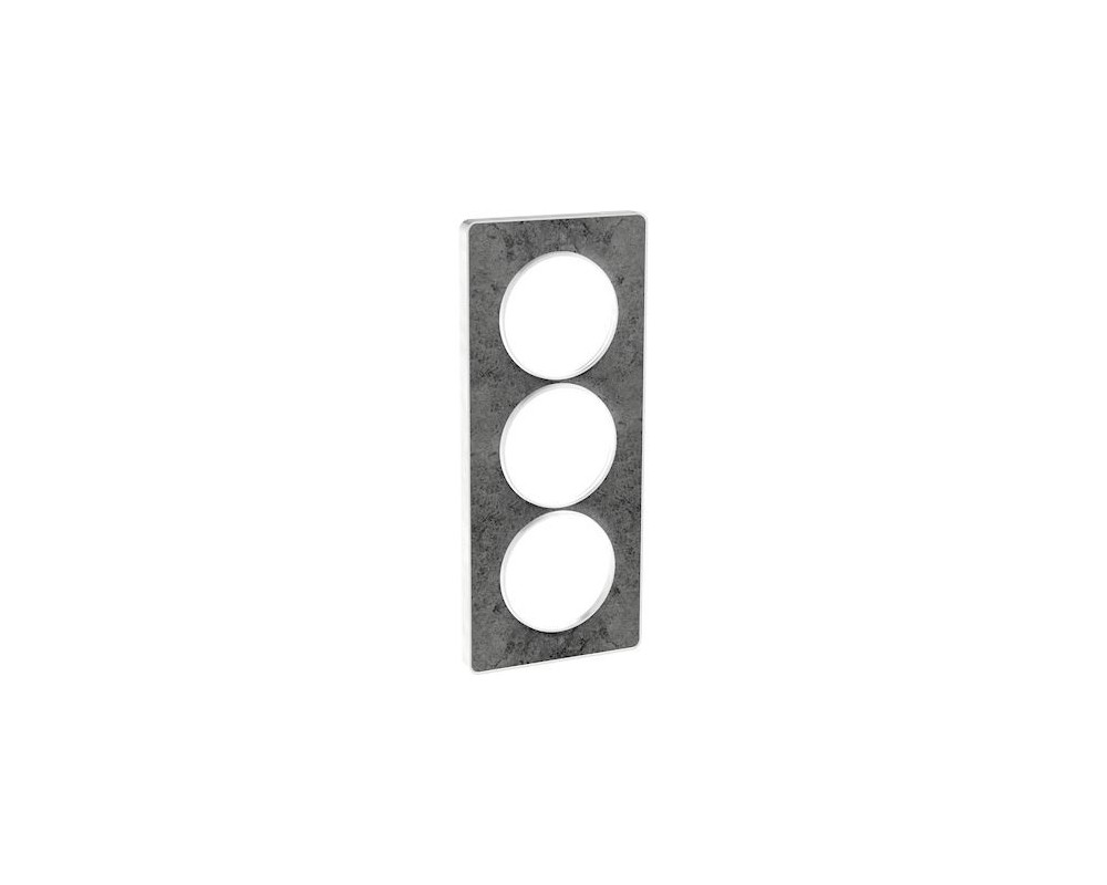 Odace Touch, plaque Pierre Galet 3 postes verticaux entraxe 57mm - S520816U