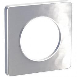 PLAQUE ODACE TOUCH Aluminium Martelé 1 POSTE BLANCHE - Schneider Odace - S520802K