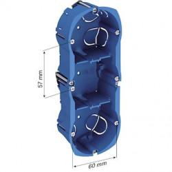 Boîte d'encastrement 3 postes - entraxe 57 mm ALB71337 - SCHNEIDER ELECTRIC