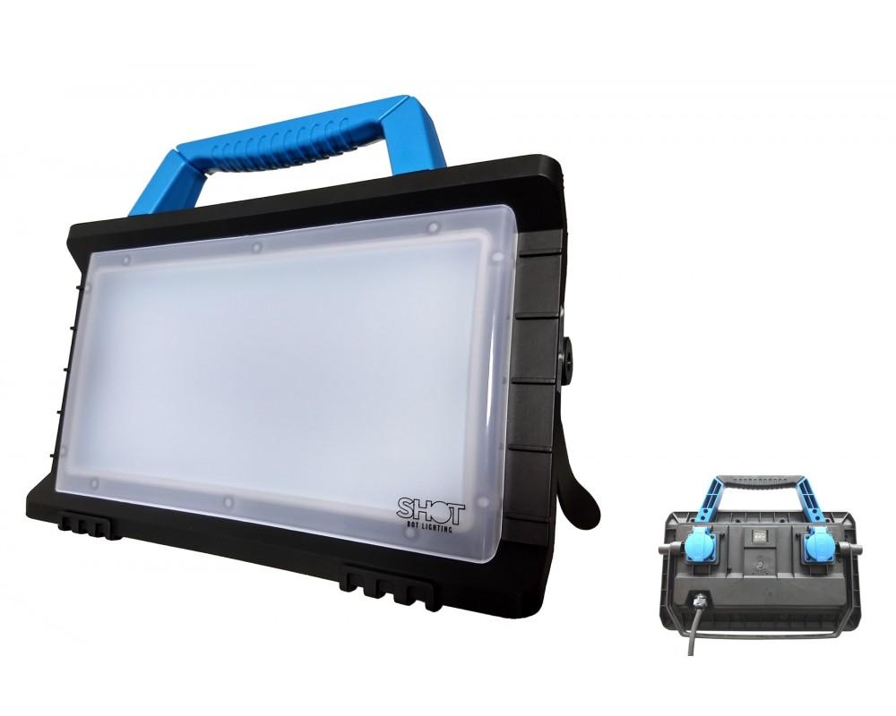 Projecteur portatif 45W Led avec 2 PC 2P+T et prise USB - PLWORK45W