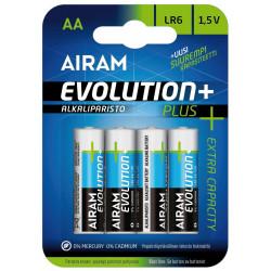 Blister 4 piles AA - LR6 Evolution + - PLLR6