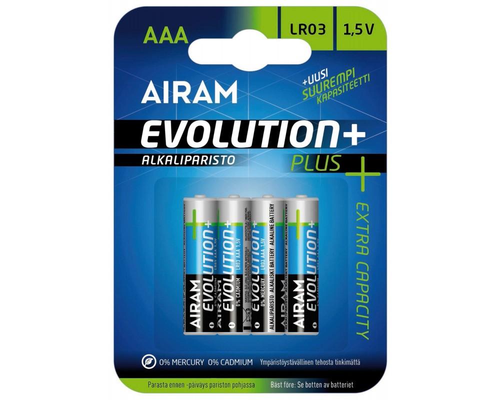 Blister 4 piles AAA - LR03 Evolution + - PLLR03