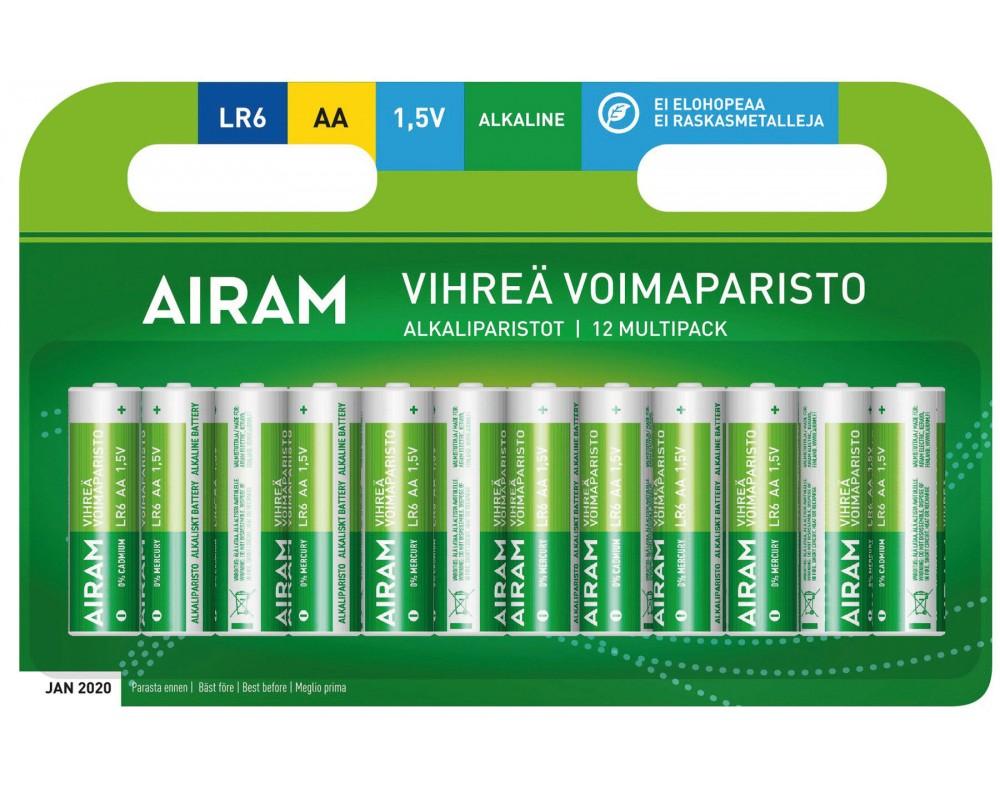 Blister 12 piles AA - LR6 alkaline - PLLR6/12