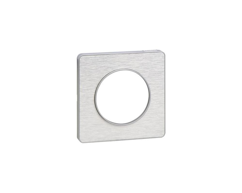 Odace Touch, plaque Aluminium brossé avec liseré Alu 1 poste - S530802J