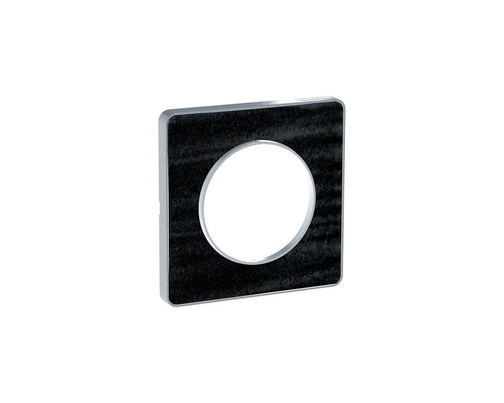 Odace Touch, plaque Chêne Astrakan avec liseré Alu 1 poste - S530802P1