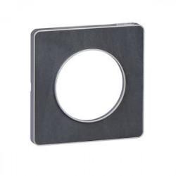 Odace Touch, plaque Ardoise avec liseré Alu 1 poste - S530802V