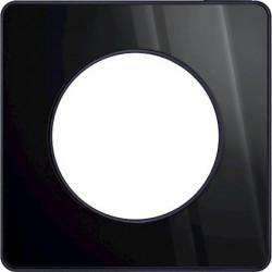 Odace Touch, plaque miroir brillantt fumé avec liseré Anthracite 1 poste - S540802K1