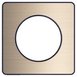 Odace Touch, plaque Bronze brossé avec liseré Anthracite 1 poste - S540802L
