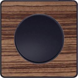 Odace Touch, plaque Bois Zebrano avec liseré Anthracite 1 poste - S540802P4
