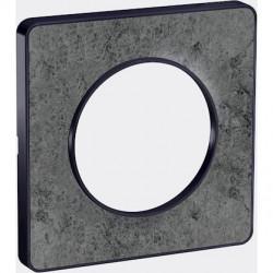 Odace Touch, plaque Pierre Galet avec liseré Anthracite 1 poste - S540802U