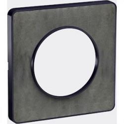 Odace Touch, plaque Ardoise avec liseré Anthracite 1 poste - S540802V