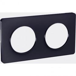 Odace Touch, plaque Anthracite 2 postes horiz. ou vert. entraxe 71mm - S540804