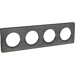 Odace Touch, plaque Ardoise avec liseré Anth. 4 postes horiz/vert. entraxe 71mm - S540808V