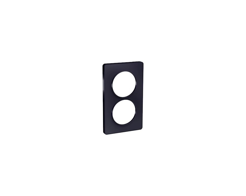 Odace Touch, plaque Anthracite 2 postes verticaux entraxe 57mm - S540814