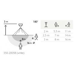 Détecteur de mouvement extérieur 180° - NIKO - 350-20058