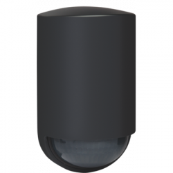 Détecteur de mouvement extérieur 180° noir - NIKO - 350-20158